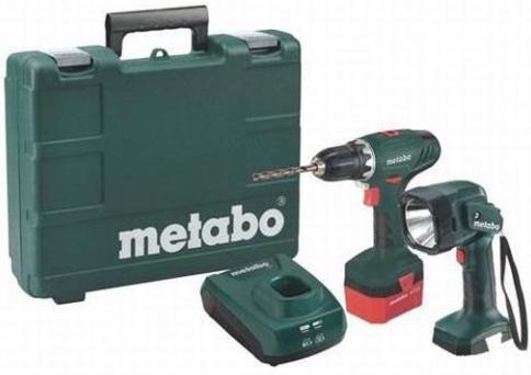 metabo akkuschrauber bs12 mit handlampe und koffer f r 60. Black Bedroom Furniture Sets. Home Design Ideas
